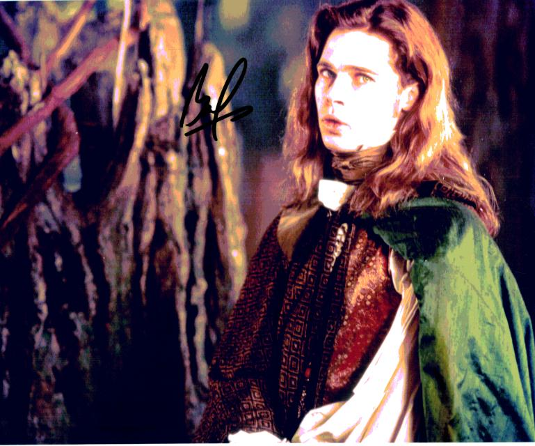 Brad Pitt from Interview with the Vampire. A purchased autograph.
